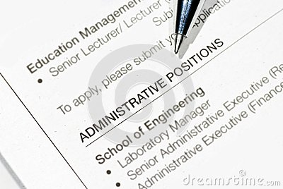Adminisrative job