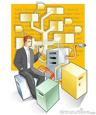 Administrator and folders tree
