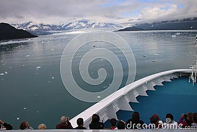 Admiring Alaskan Glacier Editorial Photo