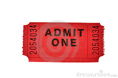 Admission Ticket (with clipping path)