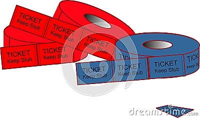 Admission Ticket Illustrations