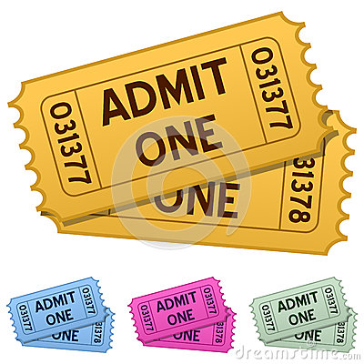 Admit One Cinema Tickets