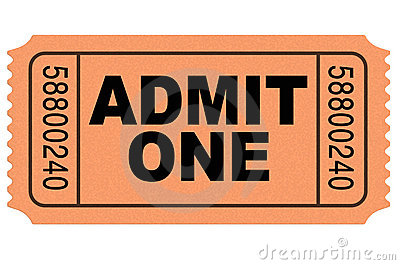 Admit One Movie Ticket Royalty Free Stock Photos - Image: 14070758