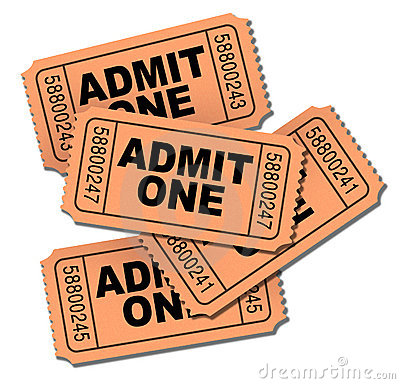 Admit One Movie Tickets Royalty Free Stock Photos - Image: 14070728