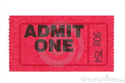 Admit one red ticket