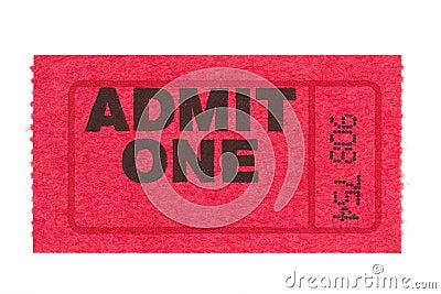 Admit one red ticket