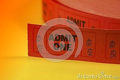 Admit One Tickets