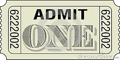 Admita un boleto