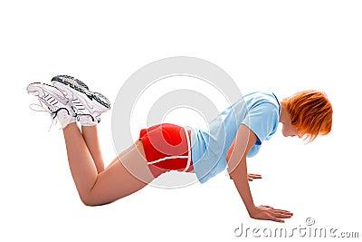Ładna sprawności fizycznej dziewczyna