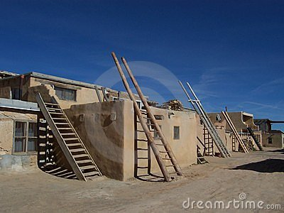Adobe Flat Roofed Houses