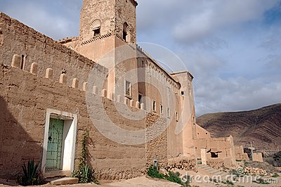 Adobe house, Taliouine, Taroudant Province, Morocco