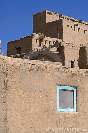Adobe houses in the pueblo of taos stock photo image 11894490 - Pueblo adobe houses property ...