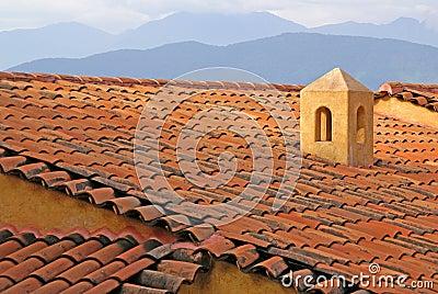 Adobe Roof In Ixtapa Mexico
