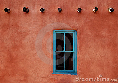 Adobe with Turquoise Window