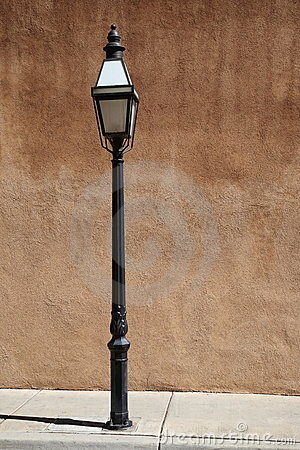 Free Adobe Wall And Streetlight Stock Photography - 16456102