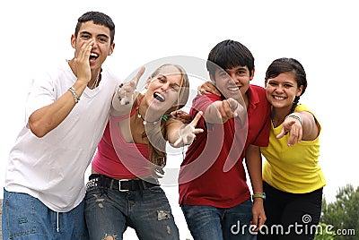 Adolescencias sonrientes hermosas