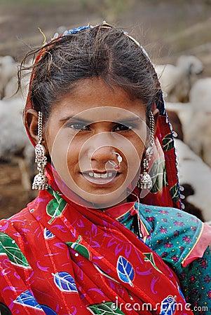 Adolescent  Girl in India Editorial Stock Image
