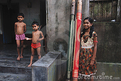 Adolescent Girl in rural India Editorial Image