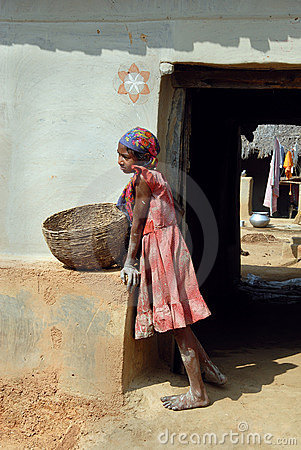 Adolescent Girl in rural India Editorial Stock Image