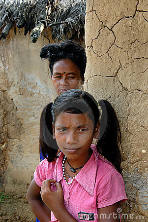 Adolescent Girl in rural India Editorial Stock Photo