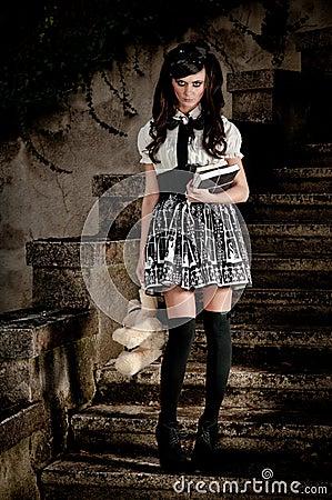 Adolescent Lolita schoolgirl