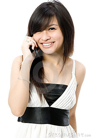 Adolescente com telefone