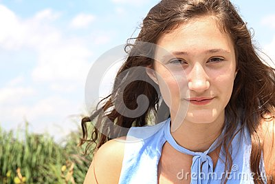 Adolescente de Smilng