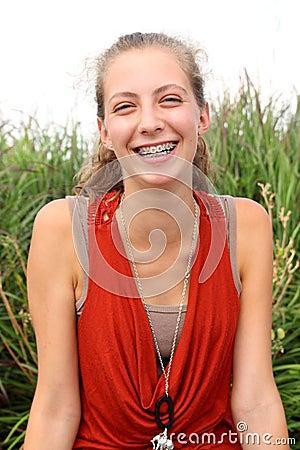 Adolescente di Smilng
