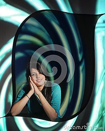 Adolescente em uma espiral