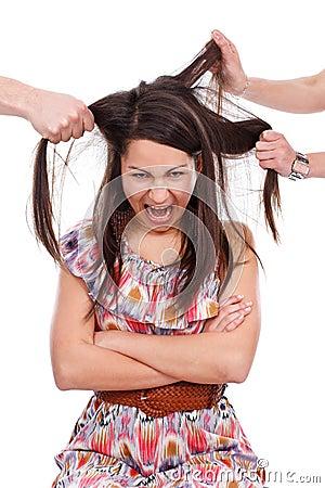 Adolescente enojado