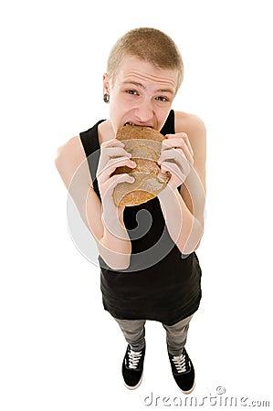 Adolescente hambriento