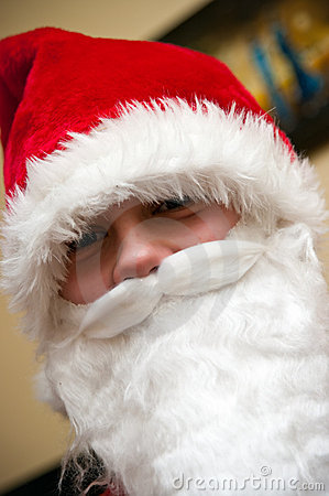 Adolescente il Babbo Natale