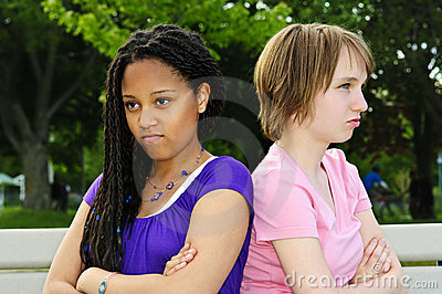 Adolescentes enojados