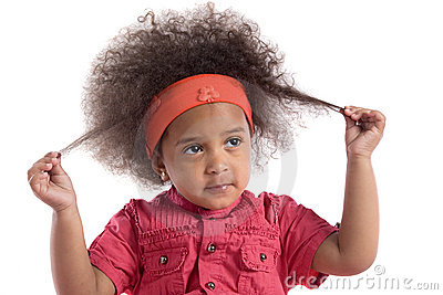 Adorable african baby with afro hairstyle