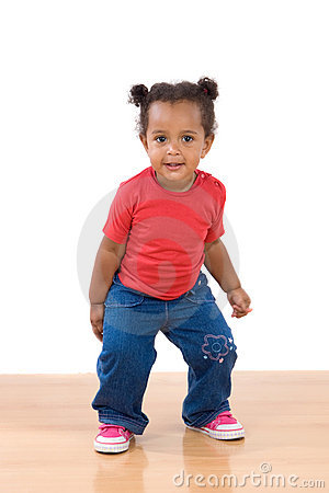 Free Adorable African Baby Dancing Stock Image - 7678721