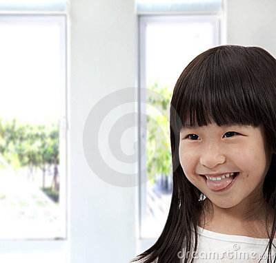 Adorable asian little girl