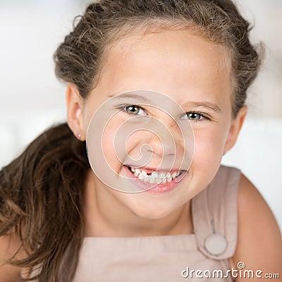 Adorable beautiful little girl