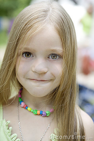Adorable blond  child  girl