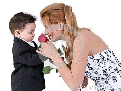 Adorable Boy,  Beautiful Girl, Lovely Rose