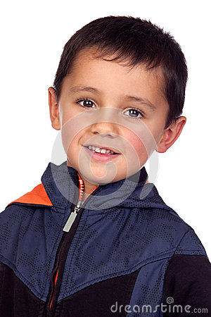 Adorable boy with dark eyes