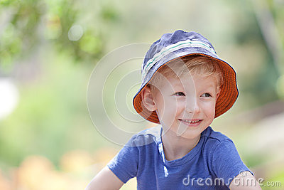 Adorable boy outdoors
