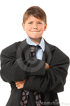 Adorable Boy in Over Sized Suit