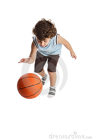 Free Adorable Boy Playing The Basketball Royalty Free Stock Photo - 1475105