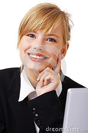 Adorable business woman