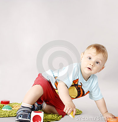 Adorable child playing