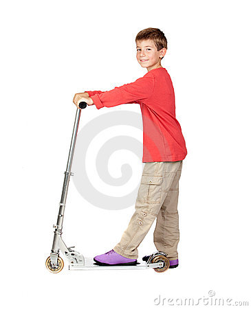 Adorable child on skateboard