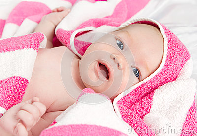 Adorable curious baby girl
