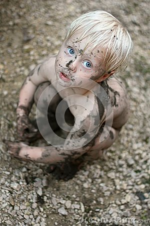 Free Adorable Dirty Baby Child Looking At Camera Stock Photos - 44503713