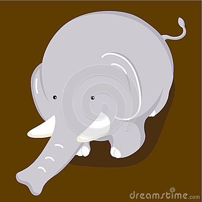 Adorable elephant cartoon
