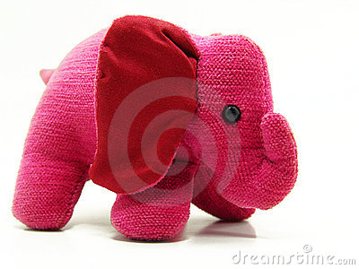 Adorable pink elephant toy